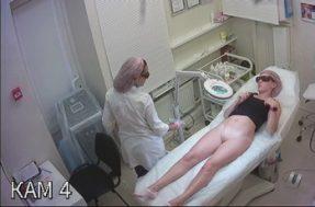 Скрытая камера в салоне депиляции