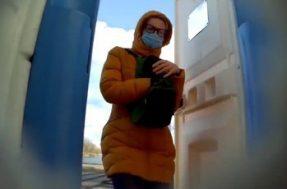 Скрытая камера в биотуалете