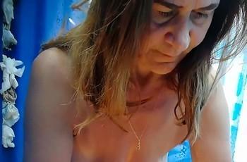 Пляжная зрелая баба
