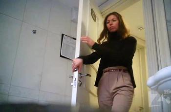 Скрытая камера за унитазом женского туалета