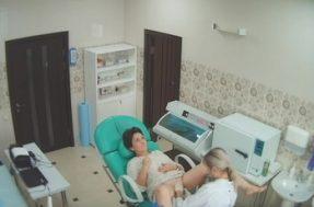 Скрытая камера снимает в гинекологическом кабинете